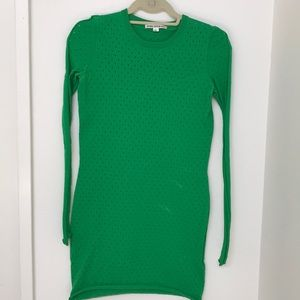 Acne studios green knit stretchy dress